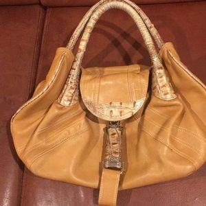 Fendi Spy,  rich tan handbag see pics